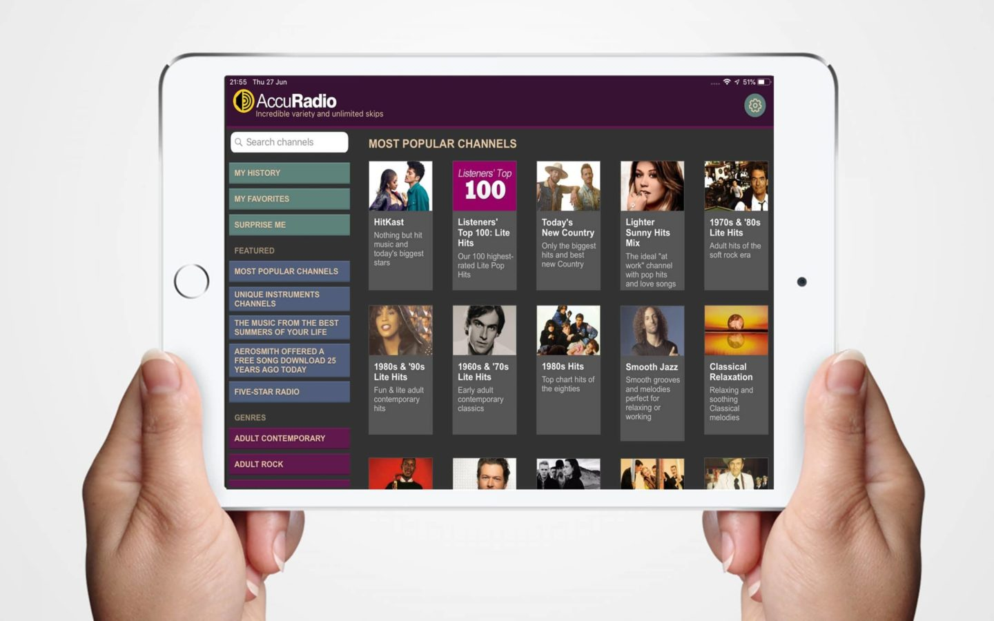 Best British Radio App: AccuRadio